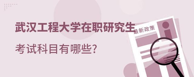 武汉工程大学在职研究生考试科目有哪些